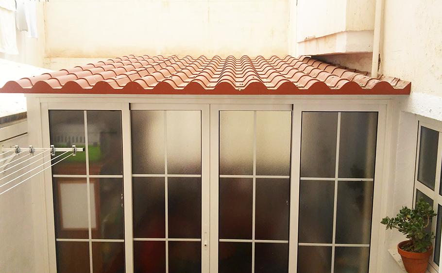 servicio aluinma cerramiento techo fijo teja