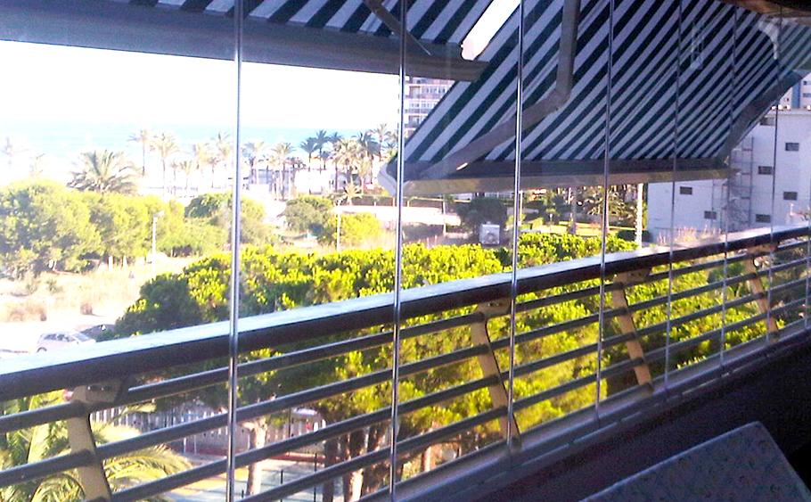 cortina de cristal balcon
