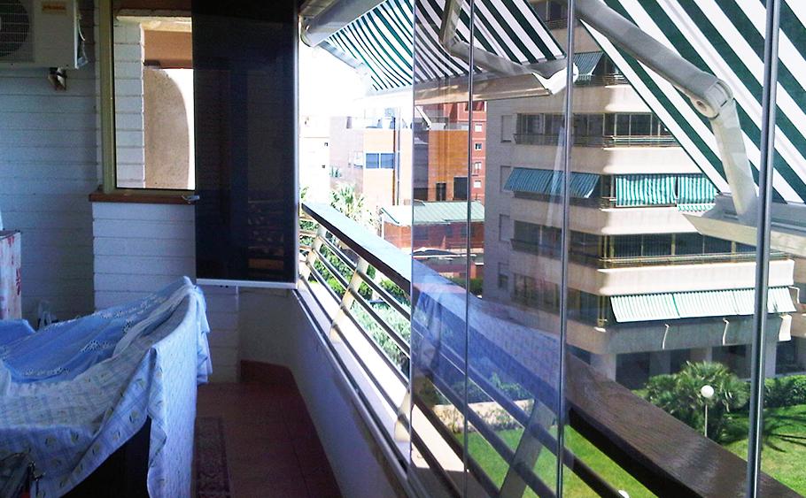cortina de cristal montaje balcon